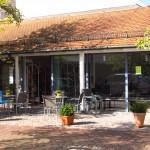 Das Outdoorkaffe der Bücherei